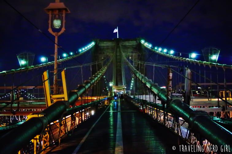1st Time New York Am Abend Kein Chinatown Und Brooklyn Bridge